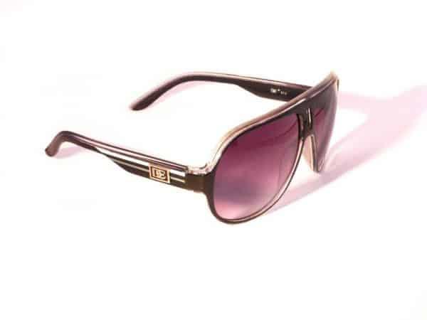 DE Aviator Glow (svart) - Retro solbrille