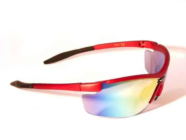 X-sportz Racer Multicolor Mirror (rød) - Sport solbrille