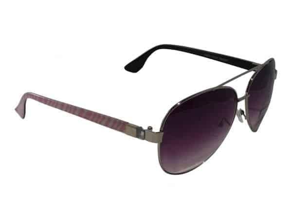 Pilot Pink Stripes (sølv) - Pilot solbrille