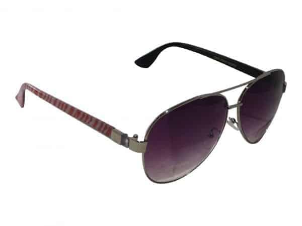 Pilot Red Stripes (sølv) - Pilot solbrille